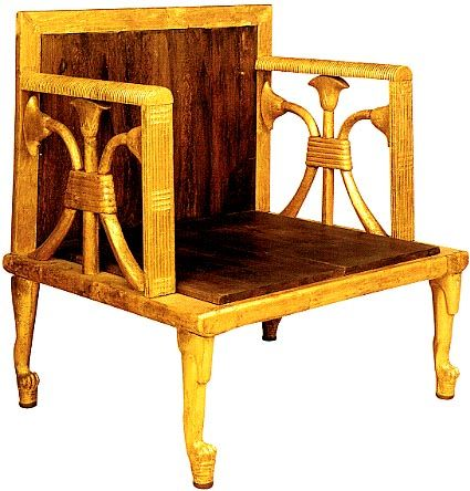 Marvelous Queen Hetepheres Chair Egyptian Furniture Wooden Ocoug Best Dining Table And Chair Ideas Images Ocougorg