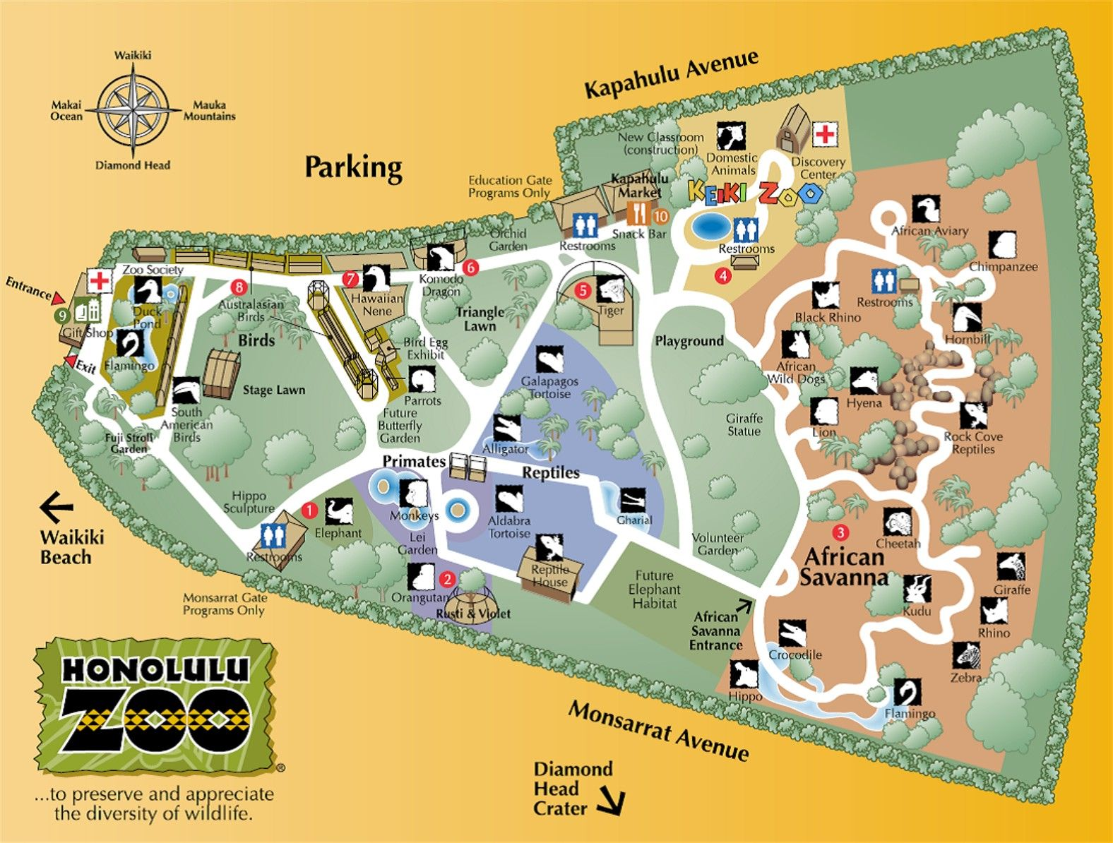 The Honolulu zoo is another place we love to visit Its absolutely