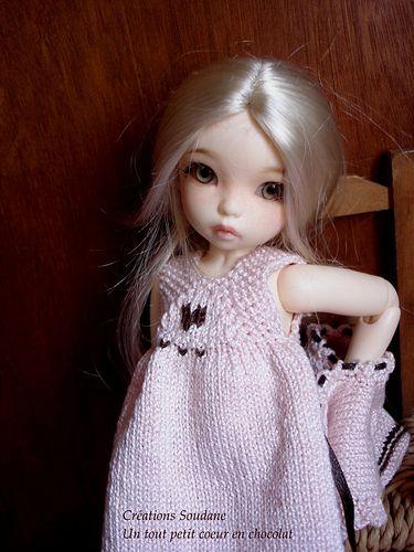 """Knitting Dress for 10/"""" YO-SD size BJD"""