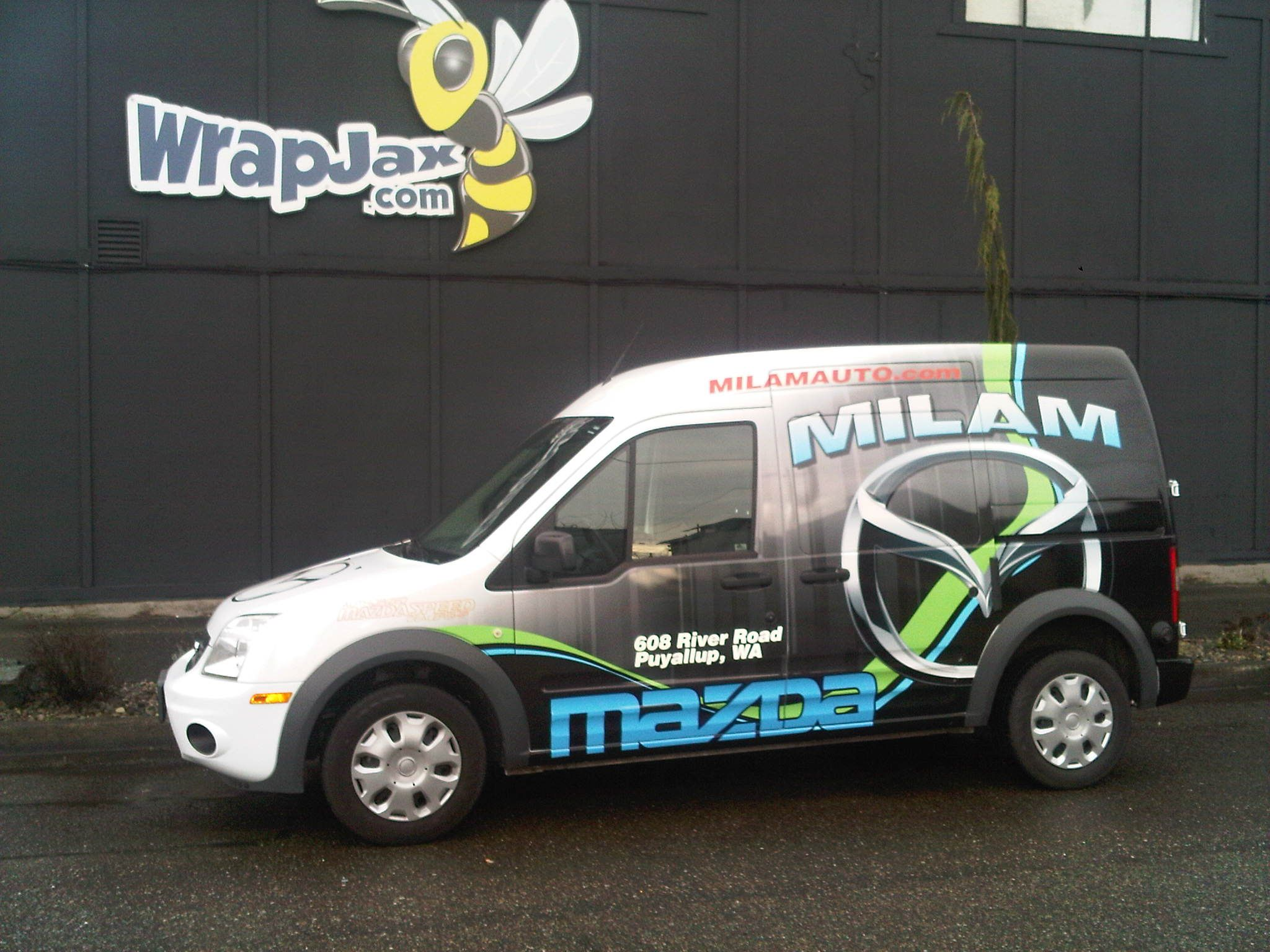 Wrapjax Com Milam Mazda Ford Transit Connect Wrap Ford Transit