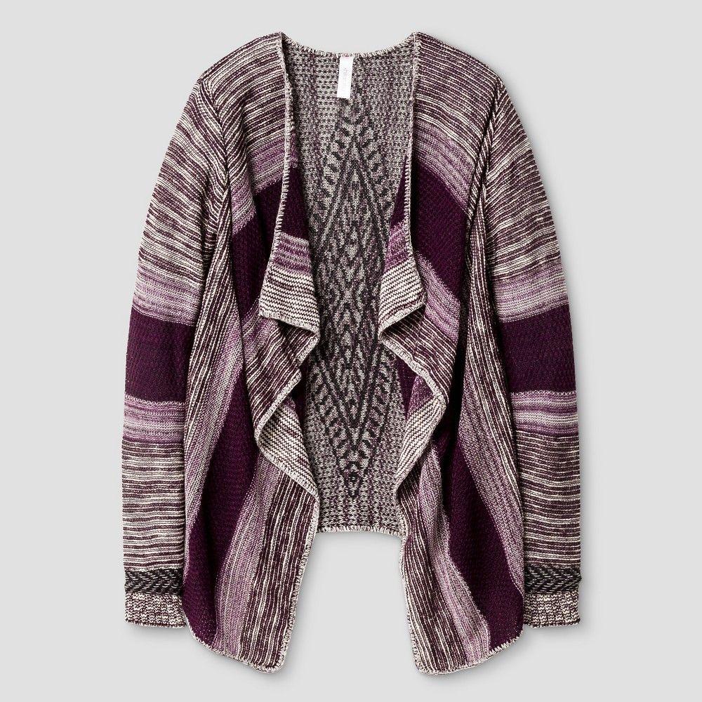 Girls' Waterfall Cardigan Xhilaration - Purple XL, Girl's | Products