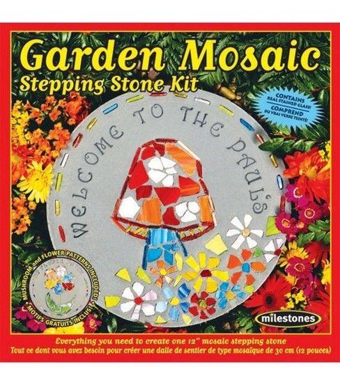 5df8b4257be7 Mosaic Stepping Stone Kit - Garden