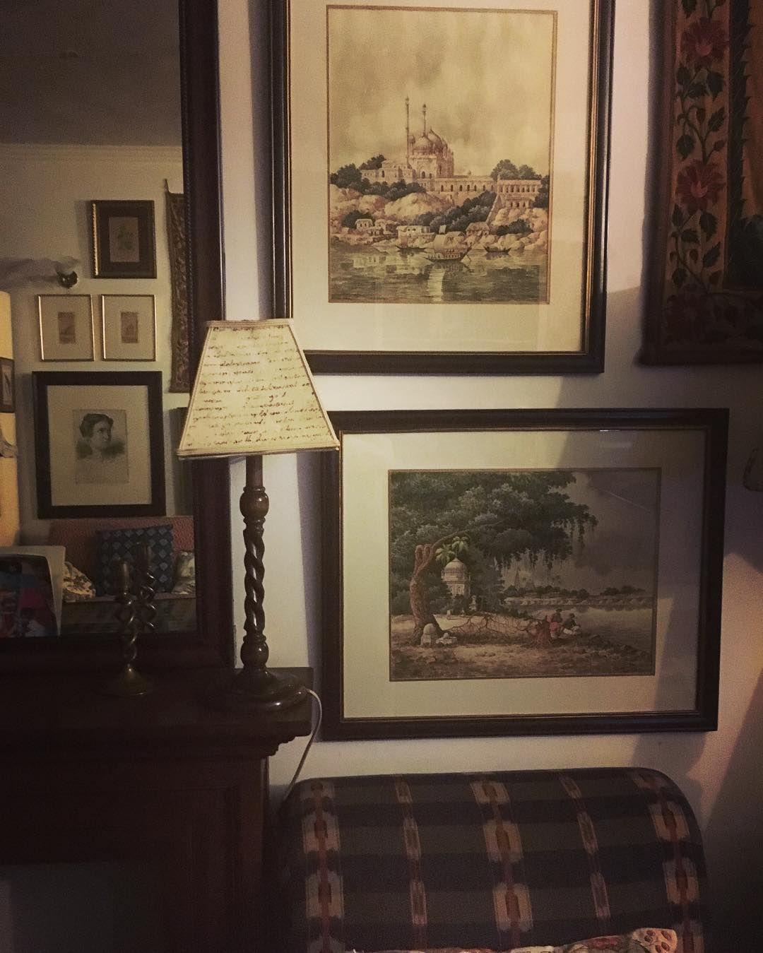 Delhi drawing room detail. Evening shadows creeping in..... #christophermoorefabrics