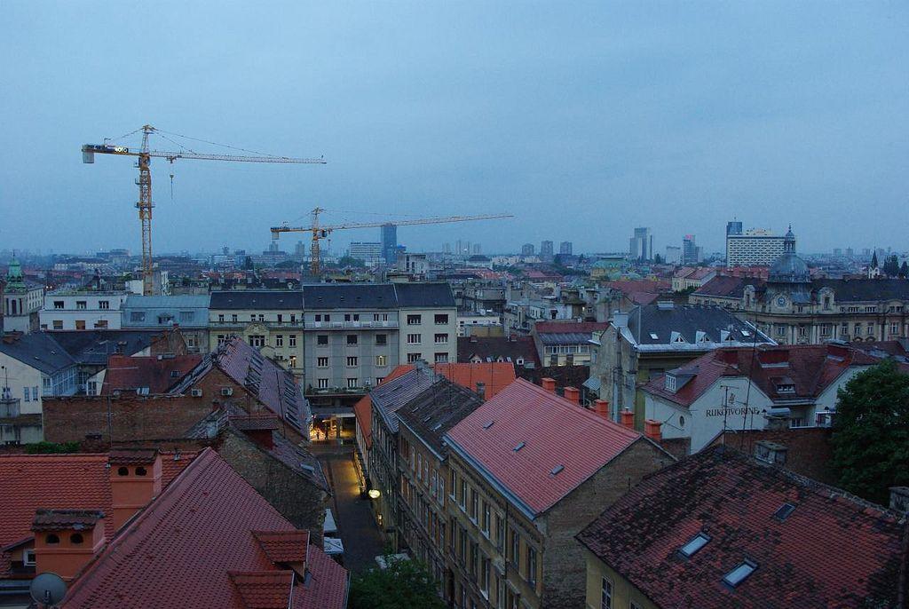 Zagreb Skyline Skyline Zagreb Paris Skyline
