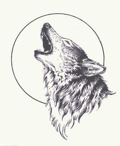 Wolf in maple leaf tattoo on ribs tattoo pinterest leaf howling wolf with moon ccuart Gallery