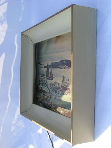 modern art framing. Mid-century Modern Steel Art Frame W/ Built -in Picture Light . Framing