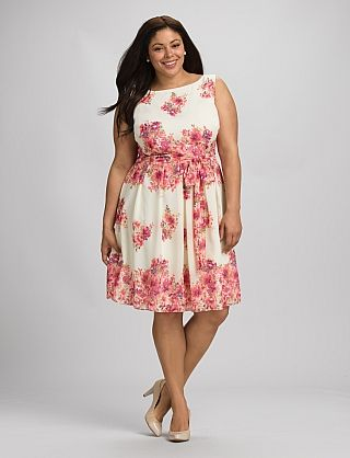 Plus Size Belted Floral Dress | style: cosmopolitan in 2019 | Plus ...