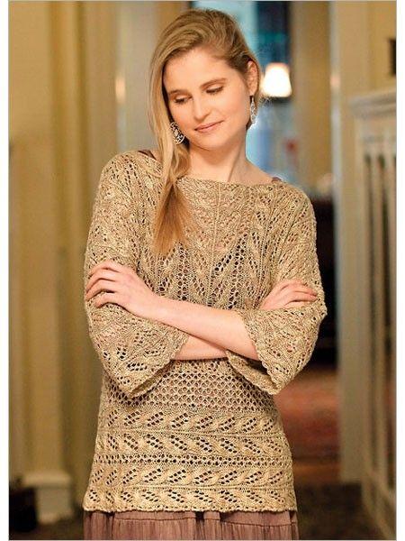Ladies Lace Tunic Top Knitting Pattern