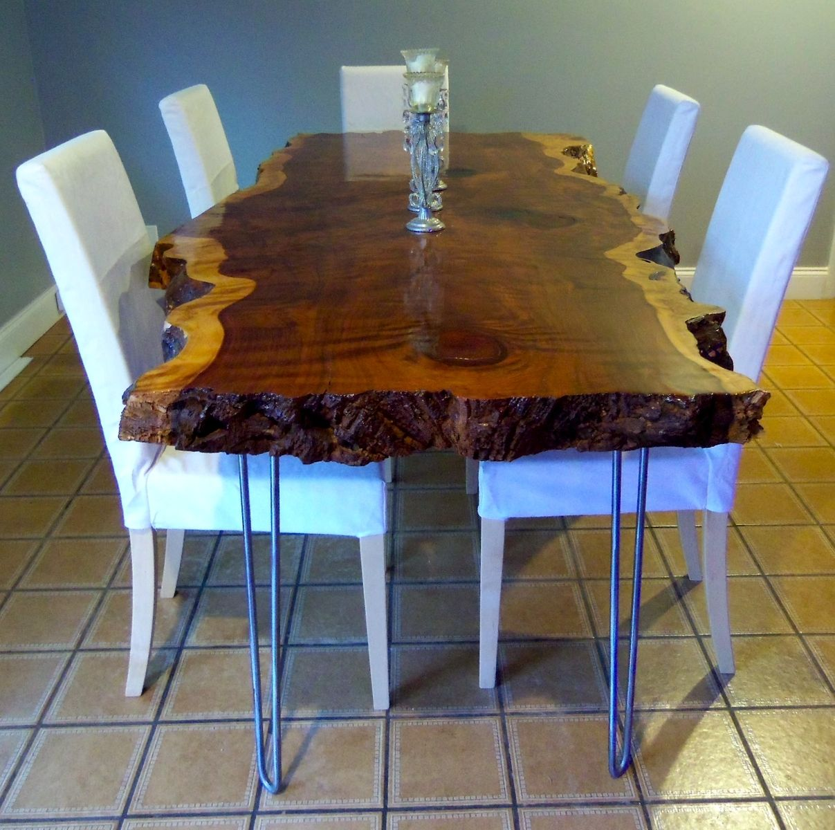Live Edge Redwood Kitchen Table | CustomMade.com | $3,900 ...