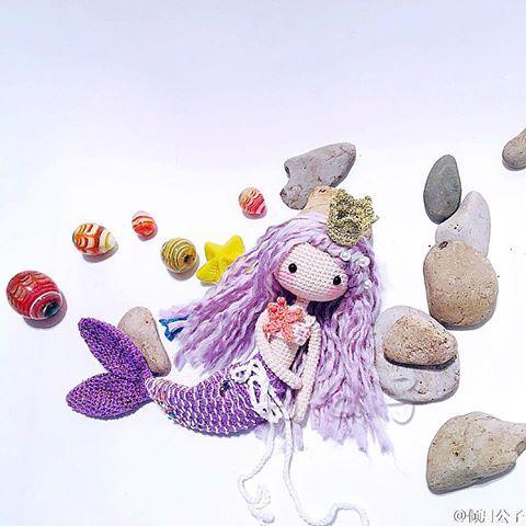 Creative work done by @倾月公子 . Beautiful mermaid Ava. Love it so much!