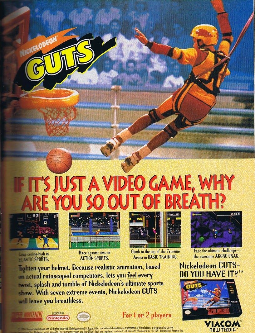 Nickelodeon Guts Video Game | 80's & 90's Toys and Games