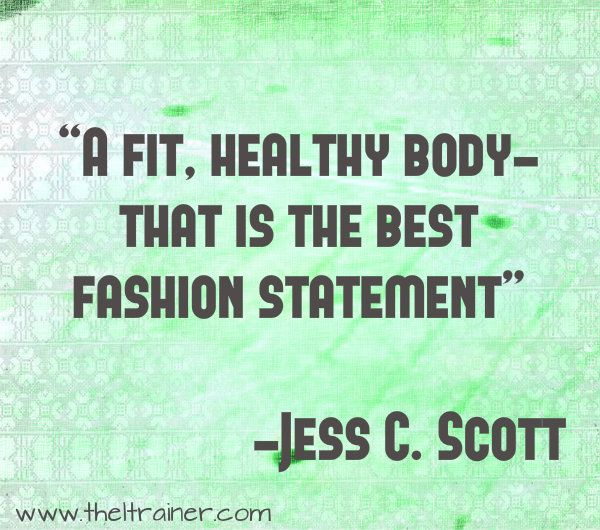 Motivational Quote A Fit Healthy Body Fashion Statement Typography Poster Print