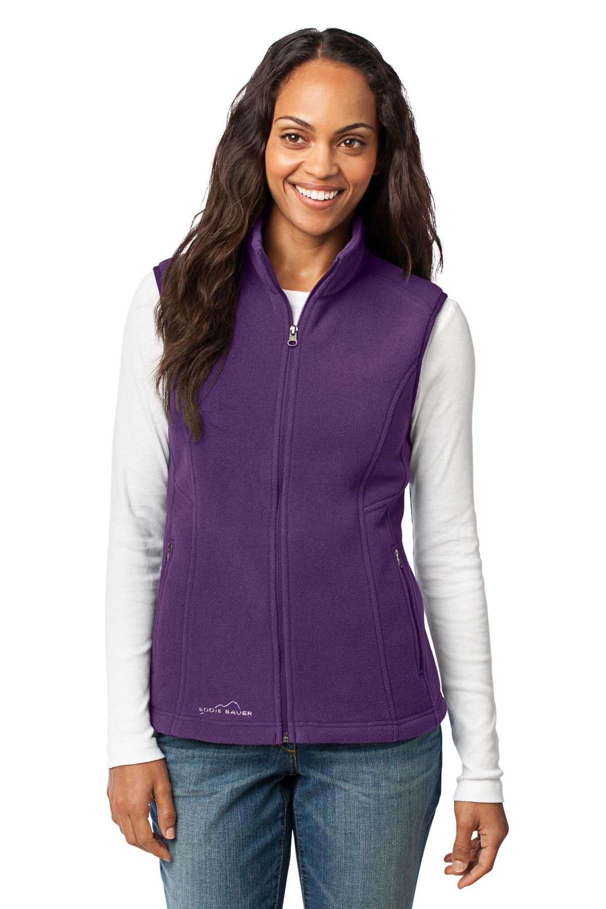 Eddie Bauer® Ladies Fleece Vest. (for mens, click