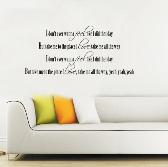 Take That  Rule The World Song Lyrics Wall Quote Stickers Wall Decals Words bn