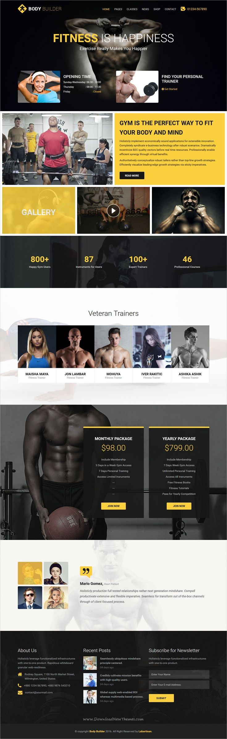 Body builder is a wonderful responsive 2in1 HTML #bootstrap ...