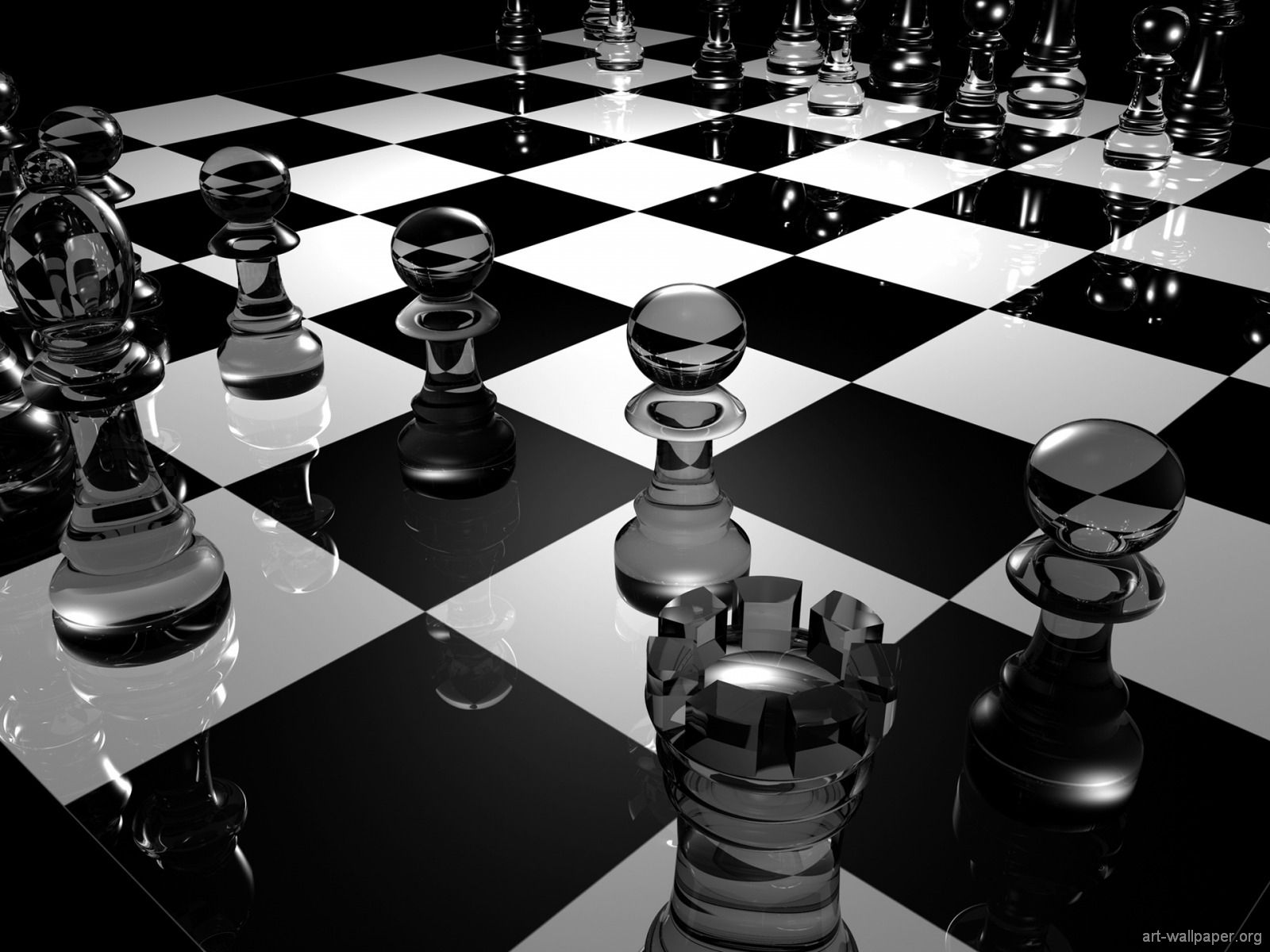 chess board 3d graphics wallpapers AR.EMLGraphics