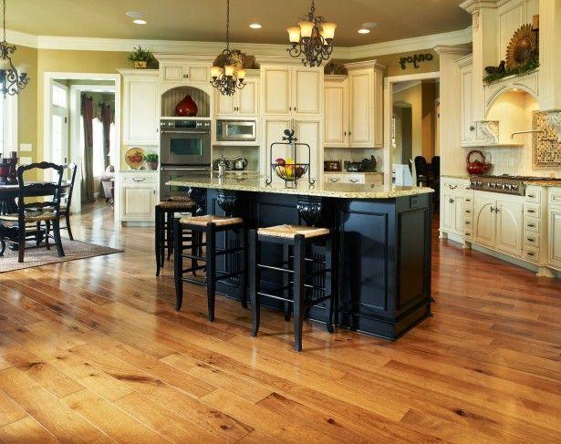 Kitchen, Surprising solid wood floor black wooden kitchen island