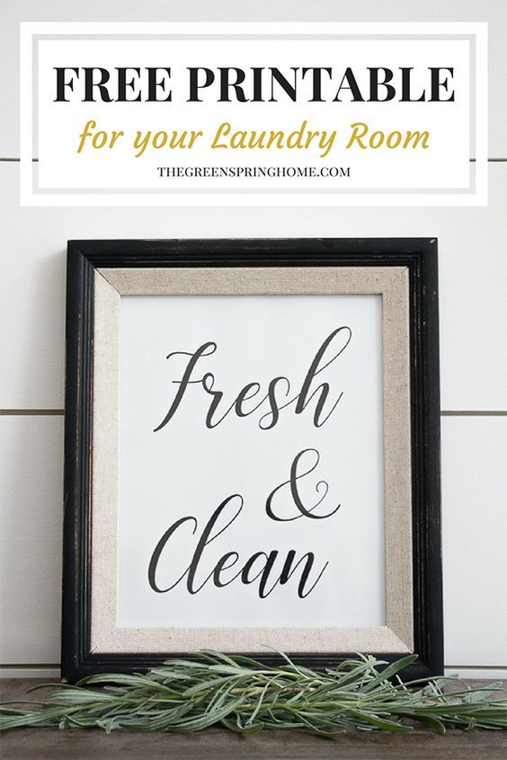 Free Printable Laundry Room Signs images