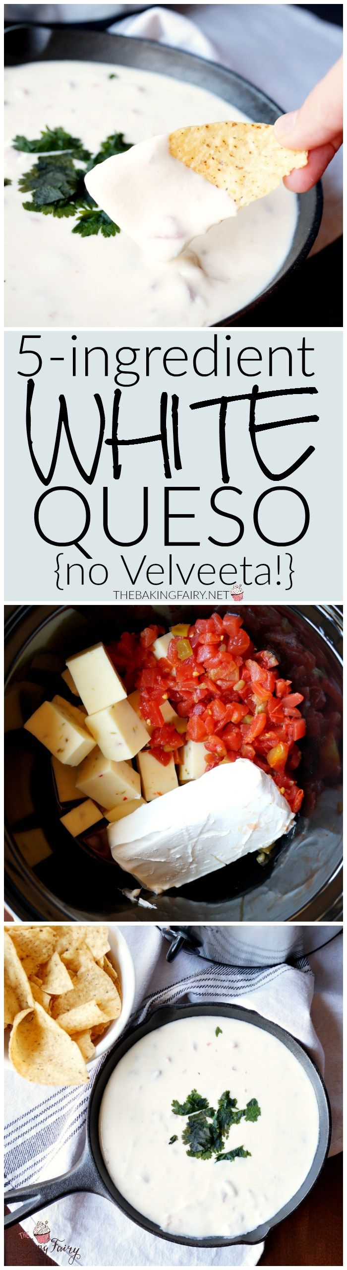 5 Ingredient White Queso The Baking Fairy Recipe Recipes Food Appetizer Recipes
