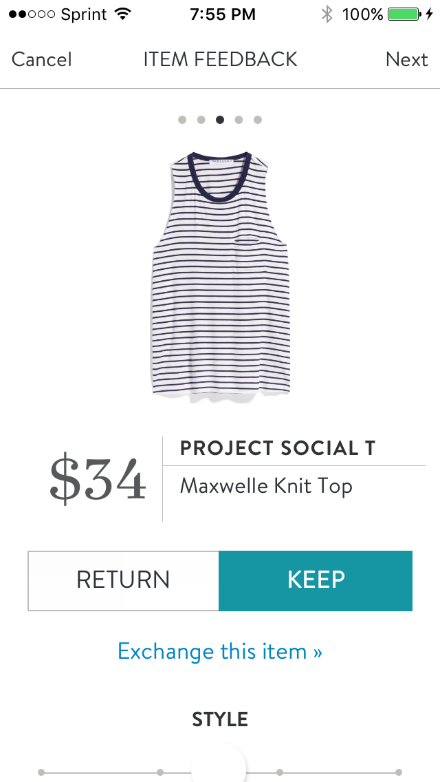 Stitch Fix #2 Project Social T maxwelle knit top Verdict