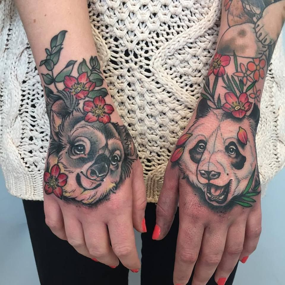 Tattoo Von Kristin Holy Diver Tattoo Panda Koala Bambus