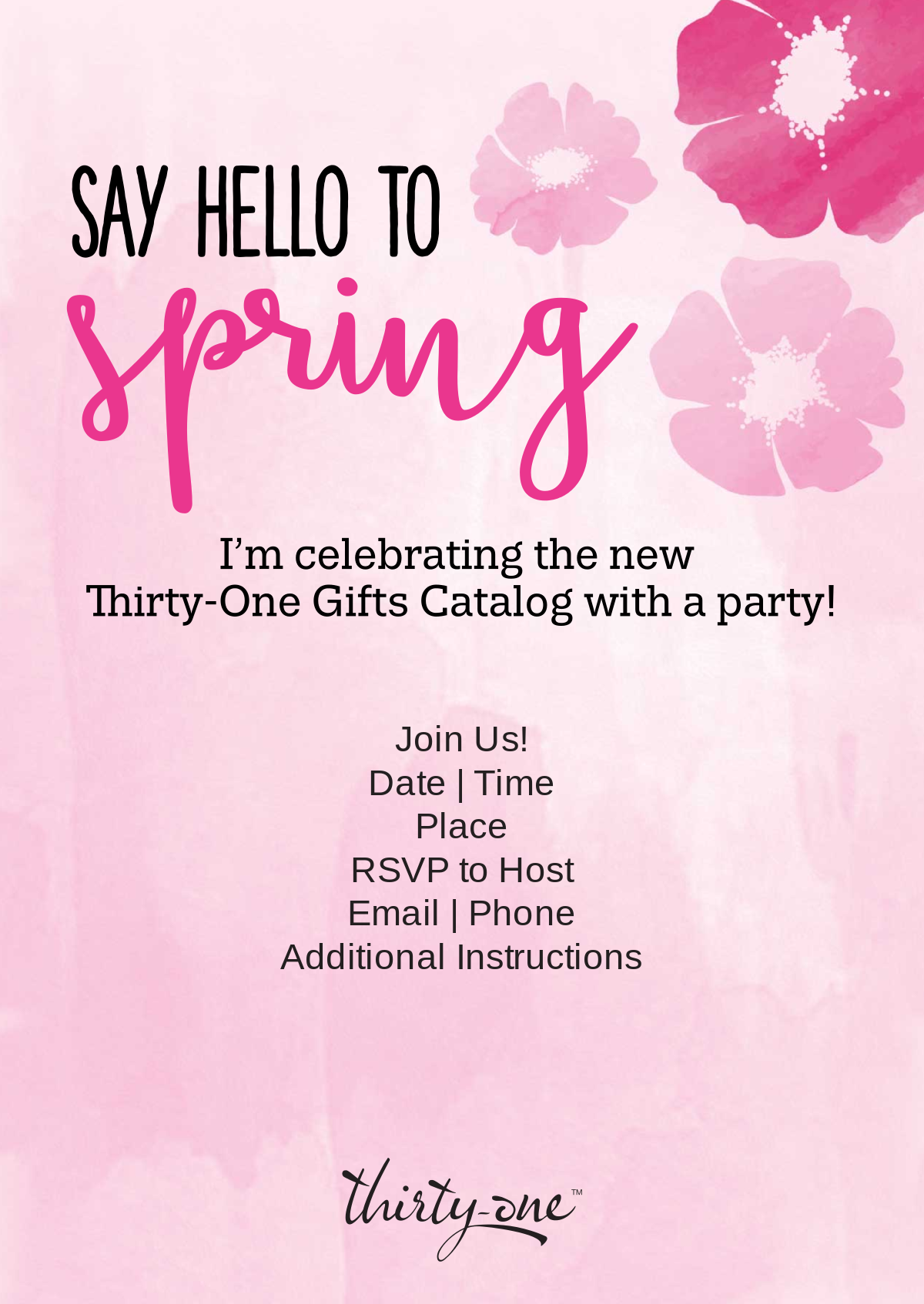 ThirtyOne Gifts Launch Party Invite ThirtyOne Pinterest – Thirty One Party Invites