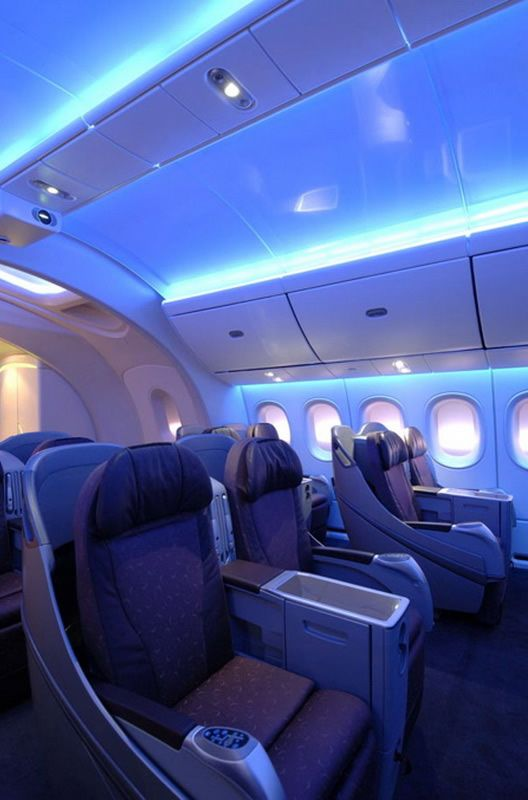 Boeing 787 Dreamliner Interior View - fly 1st class on this bad boy ...