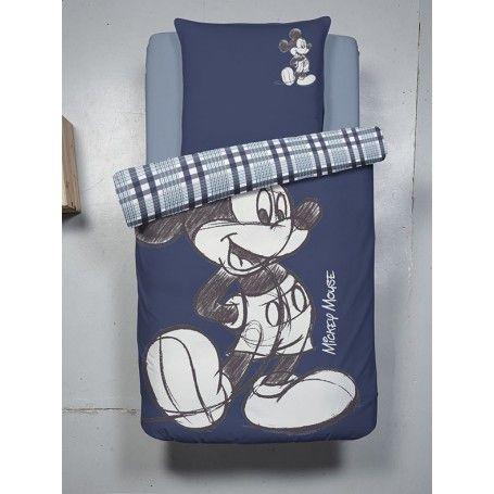 Housse De Couette Mickey Mouse Disney Pour 1 Personne 140 X 200 Cm 1 Taie 65 X 65 Cm Idee Dec Housse De Couette Mickey Couette Mickey Mouse Housse De Couette