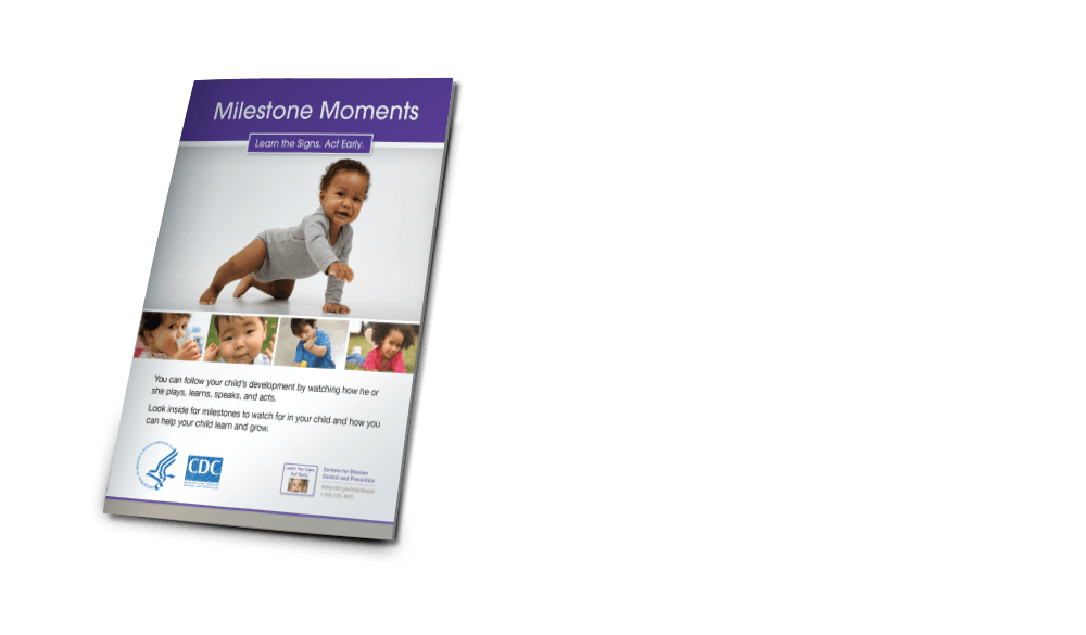 The Milestone Moments Booklet is a 42-page mini-booklet that includes full milestone checklists from 2 months through 5 years of age, with milestones and warning signs for each age. Download - http://www.cdc.gov/ncbddd/actearly/pdf/parents_pdfs/ltsae_booklet_milestonemoments_eng_printerspreads_web-ready_7.22.11.pdf