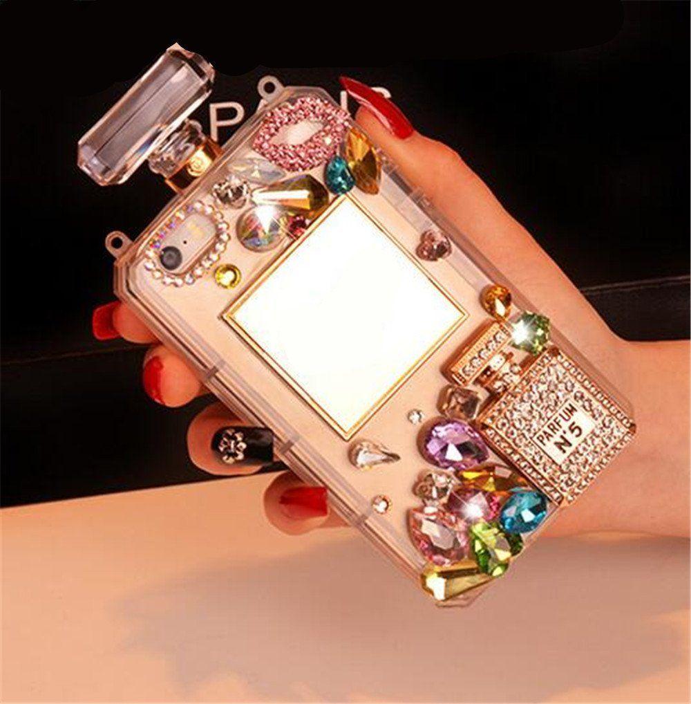 Cyzy iphone 7 plus case with chain3d handmade luxury