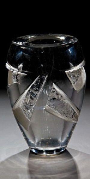 A Rare Glass Vase Aristide Colotte Nancy Circa 1930 1935