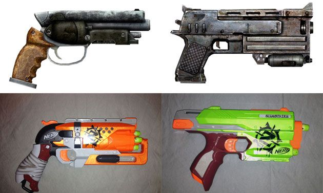 Chris Sims gets hands-on with the new NERF Zombie Strike toy weapons.