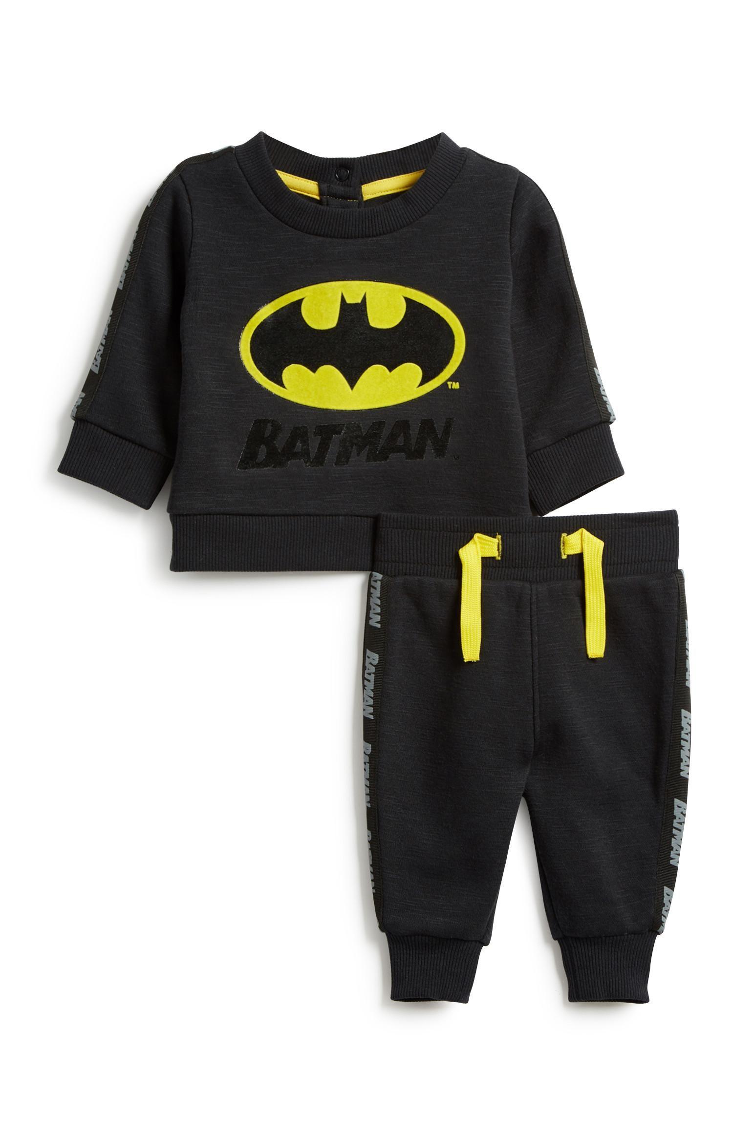 NEW Baby Boys Batman Bodysuit 3-6 Mo Creeper Outfit 1 Piece Superhero Winter
