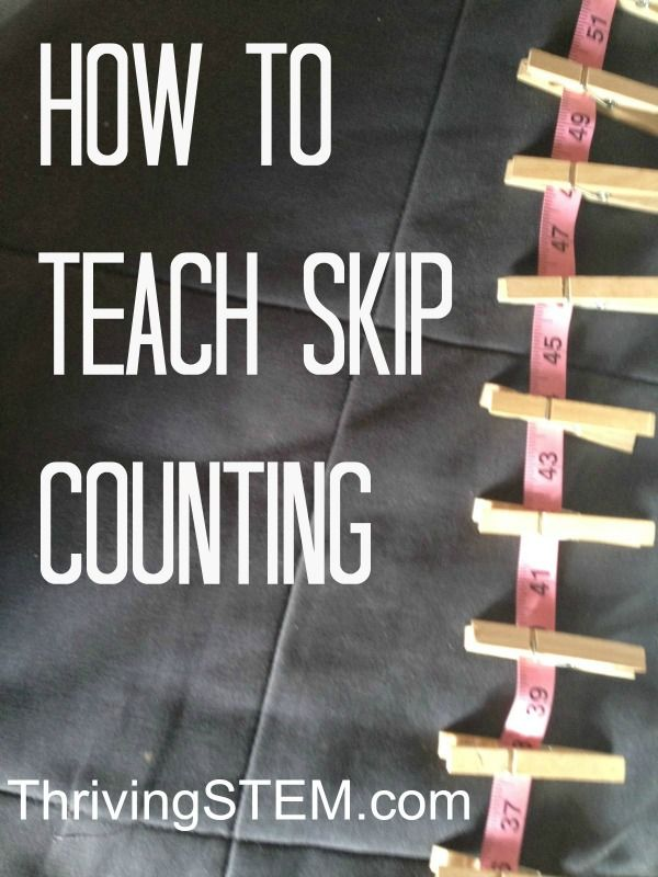 A trick for making skip counting easier for students grasp and ...