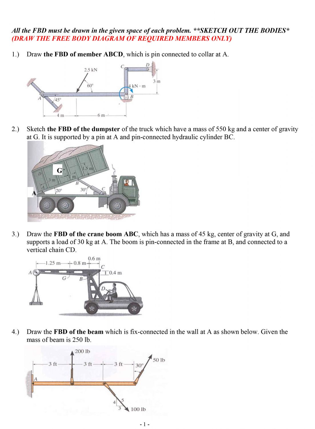 12 Draw A Free Body Diagram For The Truck Truck Diagram In