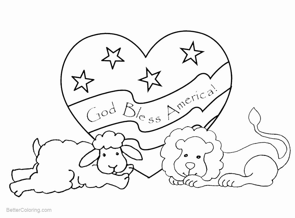 God Bless America Coloring Page Beautiful Patriotic Coloring Pages