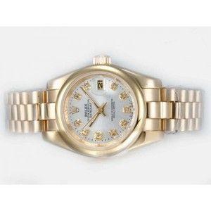 61714e8f582 Datejust Rolex automático con bisel de diamantes y marcado con esfera ...  watches for