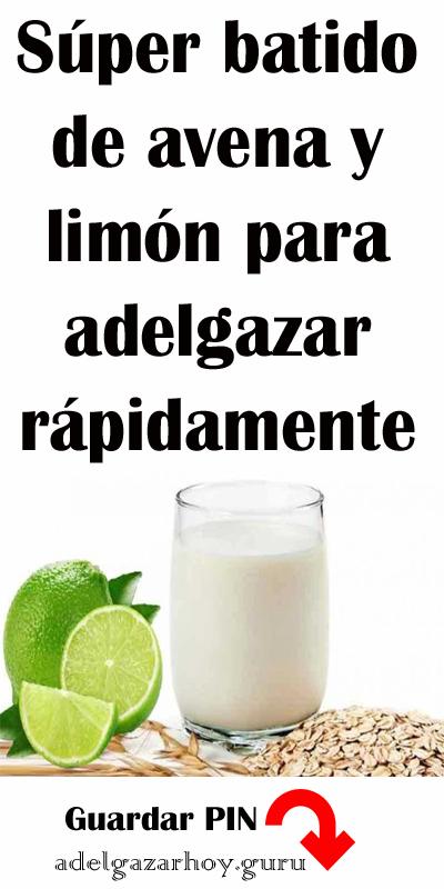 Súper Batido De Avena Y Limón Para Adelgazar Rápidamente Batido Avena Limón Bajardepeso Healthy Smoothies Bath Bomb Recipes Food