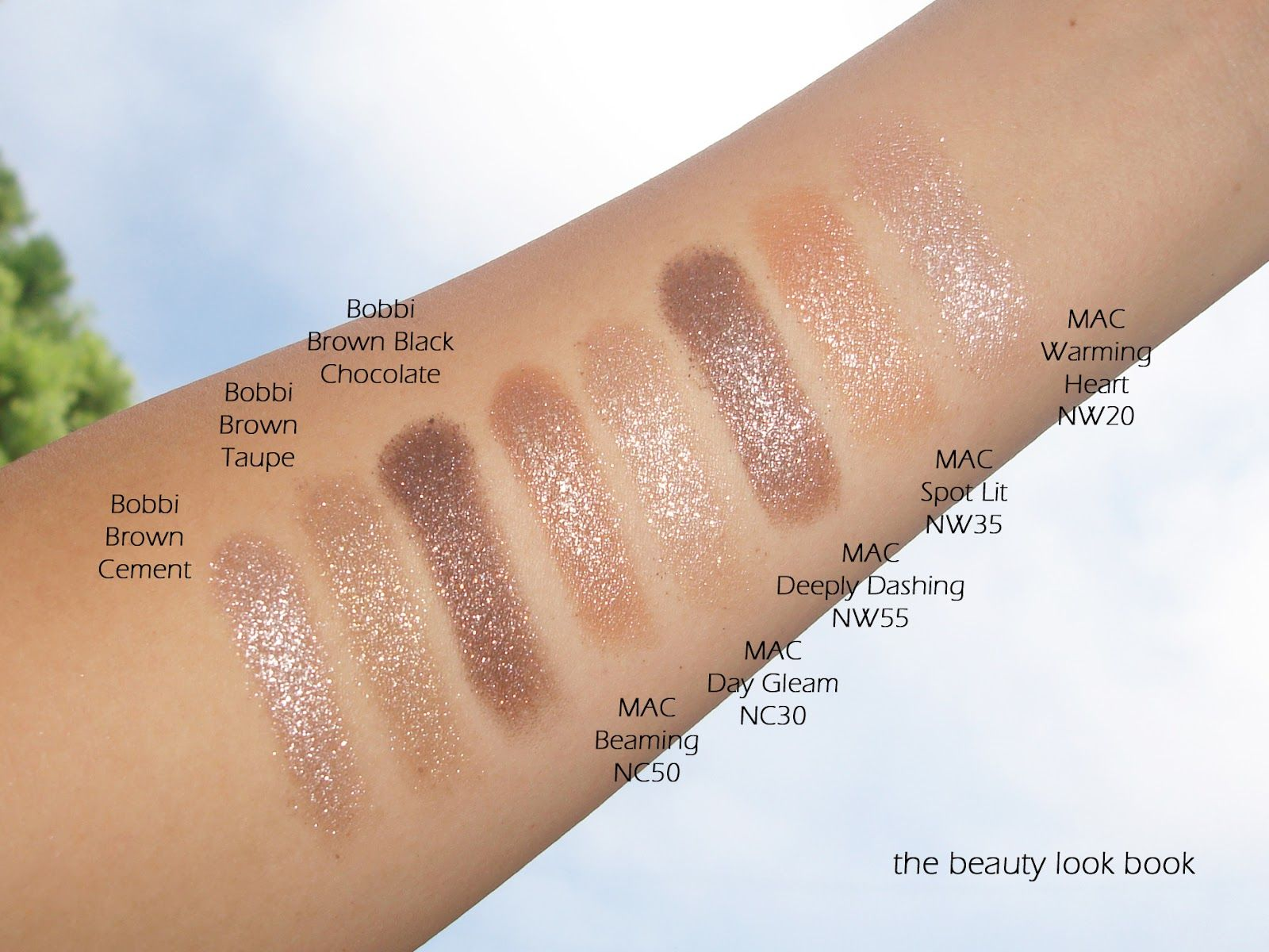 The Beauty Look Book Neutral Glimmer For Eyes Bobbi Brown Sparkle