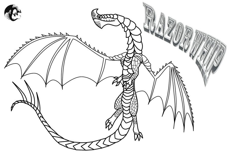 Image Result For Razorwhip Dragon Coloring Page Dragon Coloring