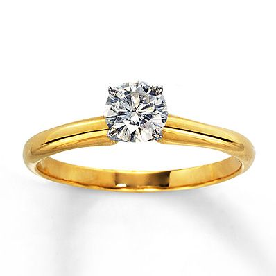 Diamond Solitaire Ring 1/2 carat Round-Cut 14K Yellow Gold  http://m.kay.com/en/kaystore/engagement---wedding/diamond-solitaire-ring-1-2-carat-round-cut-14k-yellow-gold-150356006/100006/100006.100007.100010