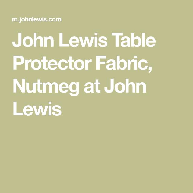 John Lewis Table Protector Fabric Nutmeg