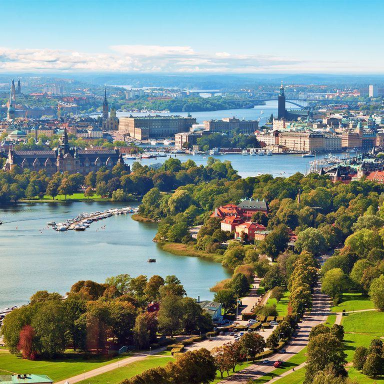 Aerial panorama of Stockholm, Sweden. Stockholm Archipelago