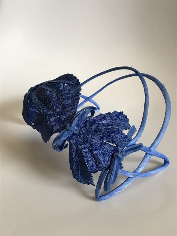 1950s Blue Fascinator Headband Hat
