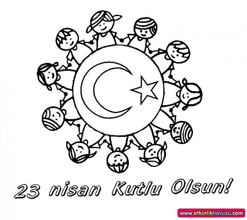 23 Nisan Dunya Cocuklari Mandalasi Boyama Sayfalari Nisan Sanat