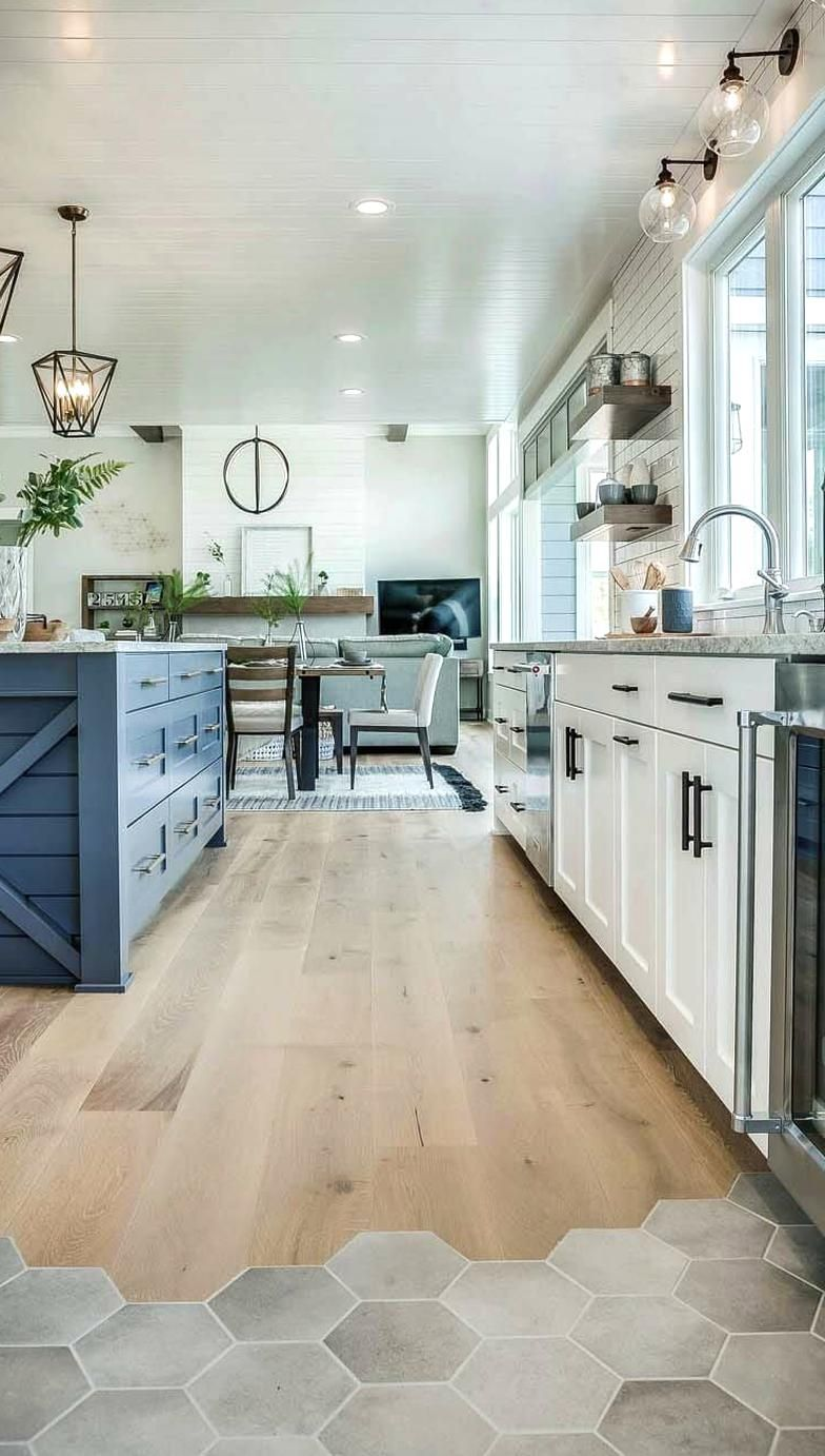 Modern Eclectic Farmhouse With Delightful Design Features In Michigan In 2020 Farmhouse Style Kitchen Home Interior Design Farm House Living Room