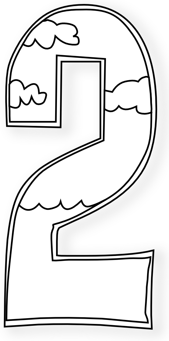 Creation Days Numbers Black White Art Coloring Book 555px.png ...