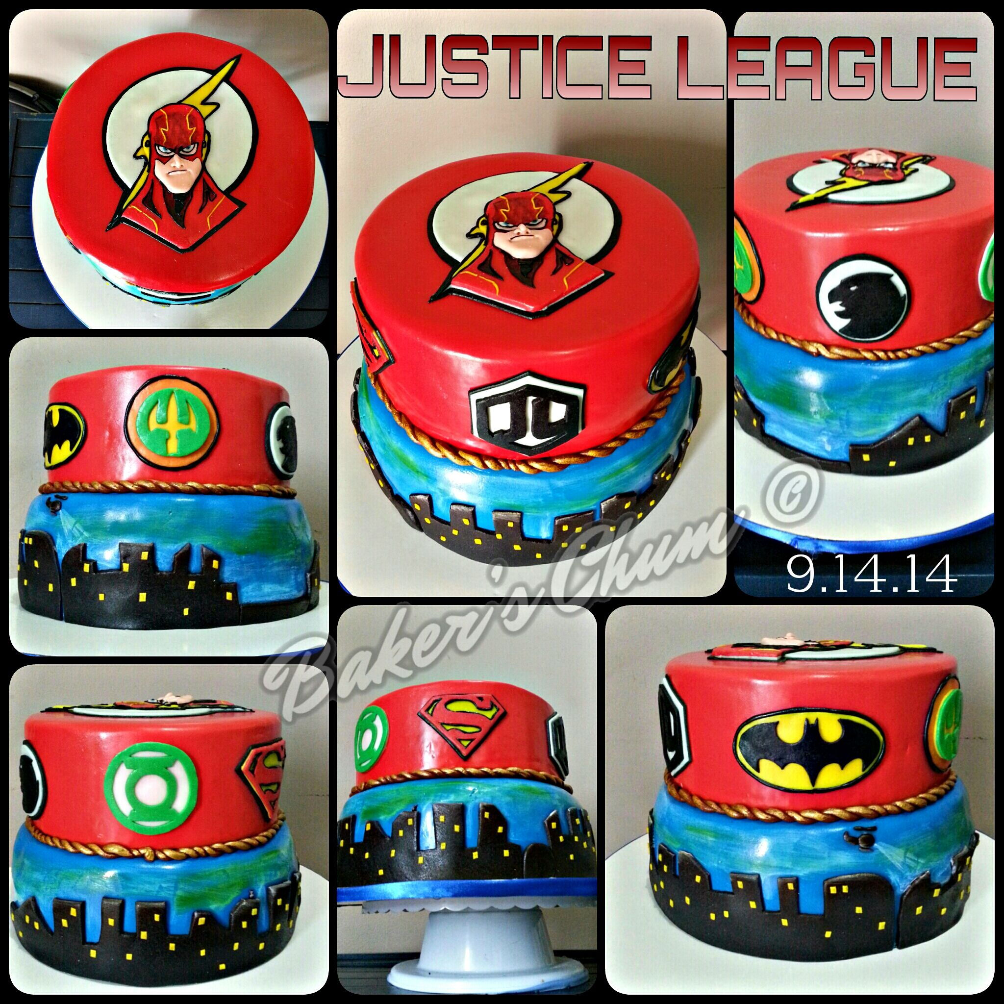 Justice League Cake Justice League Cake Superhero Birthday