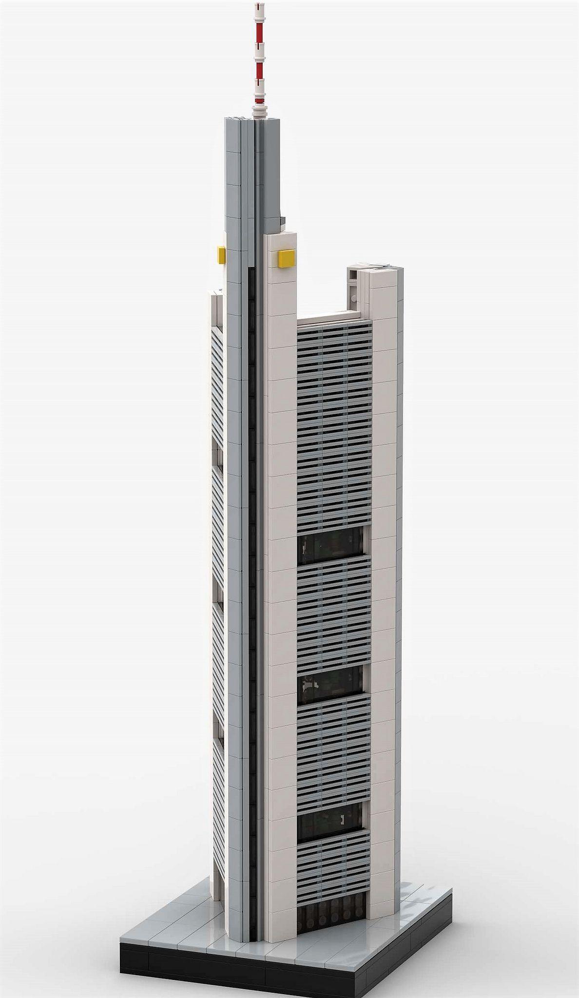 Commerzbank Tower Lego Architecture Norman Foster Skyscraper Architecture