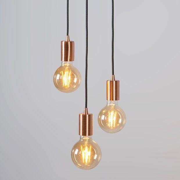 qazqa facil hanglamp 3 pendels koper afbeelding 2 hit the